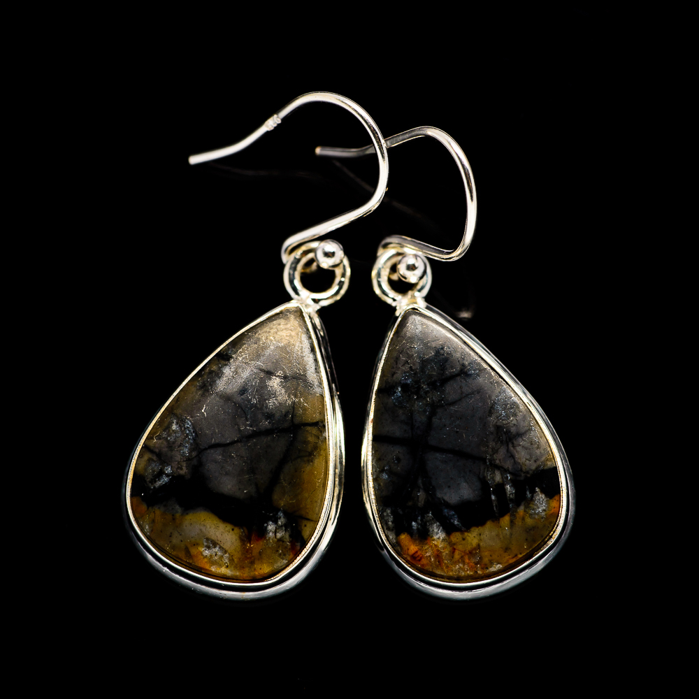 "Picasso Jasper 925 Sterling Silver Earrings 1 3/8"" Ana Co ..."