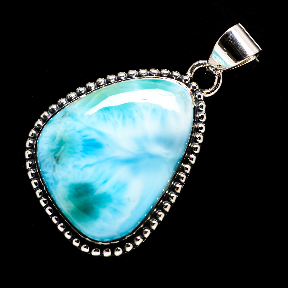 Larimar-925-Sterling-Silver-Pendant-1-1-2-034-Ana-Co-Jewelry-P717809